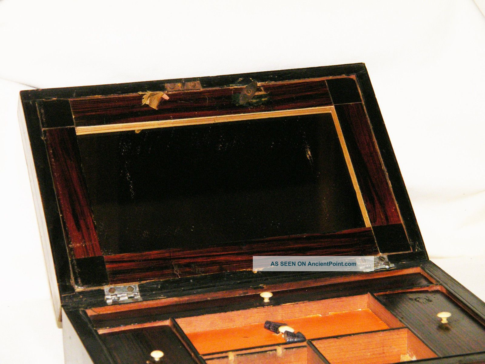 1800s/early 1900s Compartment Writing/desk Box Repair/parts Needs Tlc. Full resolution‎  photo, nominally Width 1600 Height 1200 pixels, photo with #B45A17.