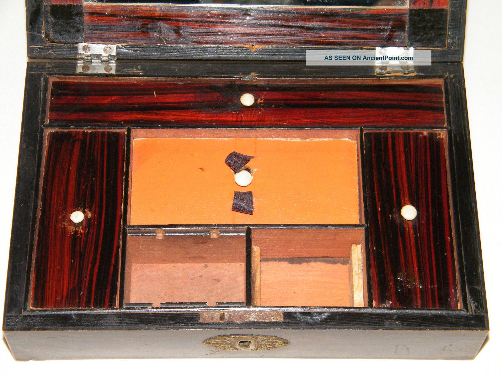 1800s/early 1900s Compartment Writing/desk Box Repair/parts Needs Tlc. Full resolution‎  photo, nominally Width 1600 Height 1200 pixels, photo with #B95912.