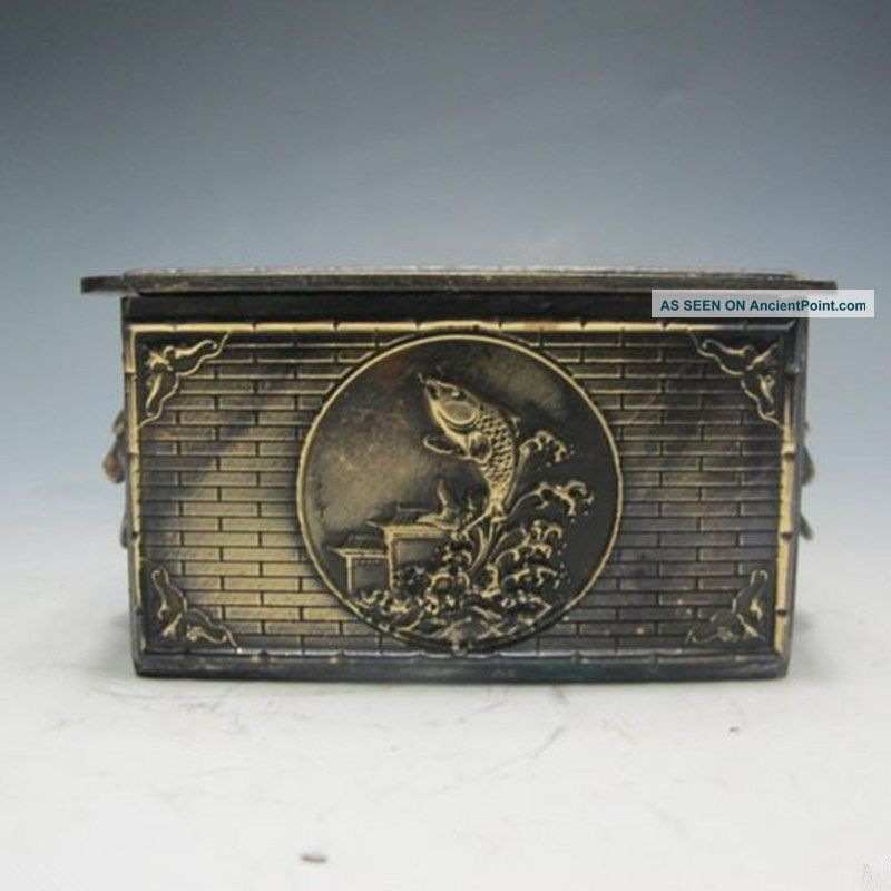 Bronze Dragons And Carp In Ancient China.  Jewelry Boxes W Boxes photo