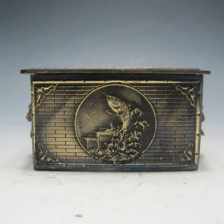 Bronze Dragons And Carp In Ancient China.  Jewelry Boxes W photo