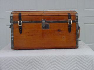 Antique Trunk Leather Latches Patented 1862 Small Size A 154 Years Old photo