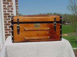 Antique Trunk Circa 1850 ' S 1860 ' S 150 Years Old photo