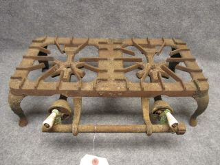 Griswold No.  202 Cast Iron Two Burner Table Top Gas Stove Patent 1832 photo