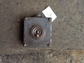 Vintage Industrial Cast Iron Light Switch Crabtree England photo