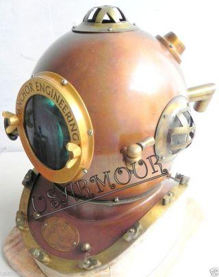 Antique - Divers Helmet - - Anchor Engineering - Marine Helmet - Deep Sea Diving photo