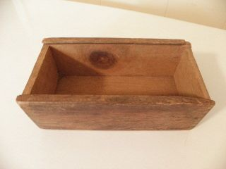 Vintage Primitive Wooden Box Rustic Shabby Decor Country photo