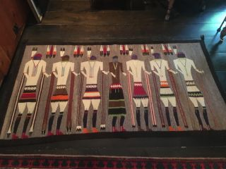 Antique Navajo Yei Bi Chei Rug photo
