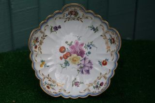 & Orig 18thc Meissen Marcolini Period Bowl With Hand Decoration C1790s photo