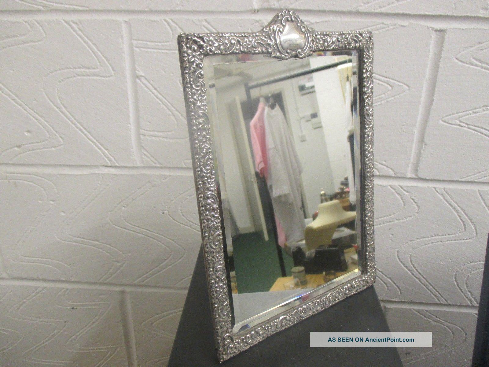 Antique Victorian Silver Table Mirror By ' Horton & Allday ' Birmingham 1900 Mirrors photo