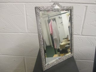Antique Victorian Silver Table Mirror By ' Horton & Allday ' Birmingham 1900 photo