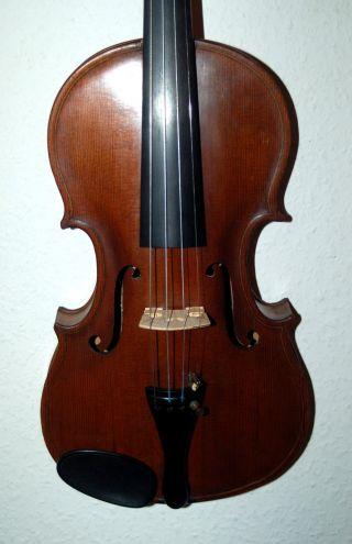 Fine Antique Handmade German 4/4 Master Violin From RÜstringen 1928 photo