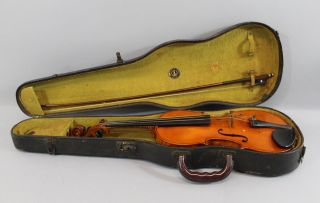 Antique German,  E.  Martin,  4/4 Figured Maple,  Amati Violin & Bow,  Nr photo