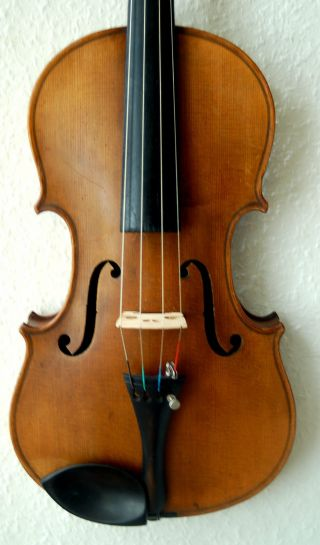 Fine Handmade German 4/4 Fullsize Violin - 100 Years Old - 4 Corner Blocks photo