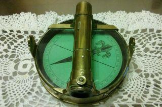 Rare 1800 ' S W&t Gilbert Ship Compass And Telescope photo
