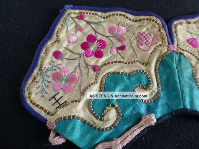 C) Embroidered Silk Chinese Collar Embroidery photo