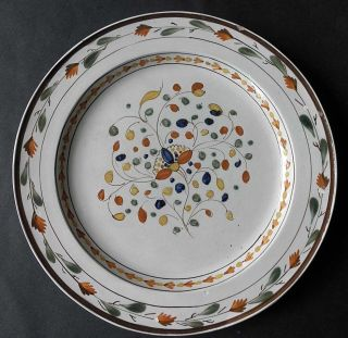 A Wonderful Pearlware Dinner Plate Decorated In Pratt Colors,  Circa 1790 photo