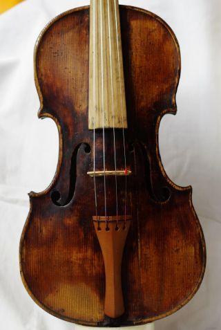 Antique Violin Labelled Caspar Strnad Fecit Pragae Anno 1803 photo