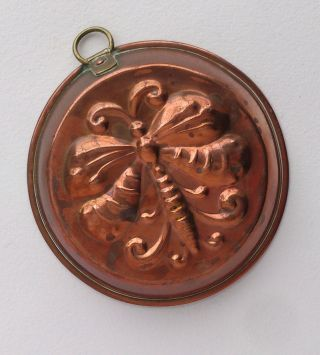 Antique Butterfly Copper Mold Victorian Lovely Kitchenalia Baking Cooking Sweden photo