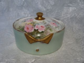 Germany Hand Painted Porcelain Stud Collar Button Box Bavaria Rosenthal German photo