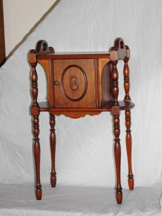 Antique Wooden Smoke Stand Cabinet Cupboard Old Vintage French Country Nouveau photo