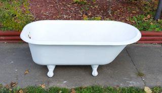Antique Porcelain Cast Iron 5 Ft.  Kohler Bathtub Fleur De Lis Eagle Usa photo