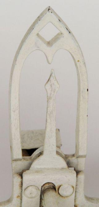 Porcelain & Brass Antique Balance Scale 5kg Wuppertal Rose Swag Transfer Ivory photo