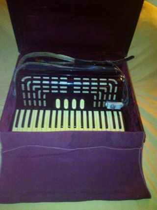 Vtg Rare Italy Excelsior Accordiana Piano Accordion Model 2720 41/120 Orig Case photo