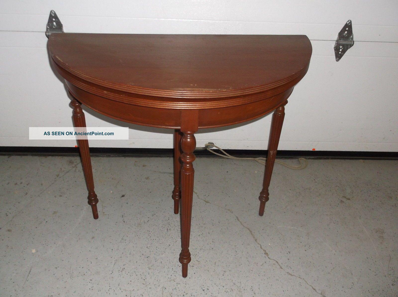 Antique Custom Mahogany Fold Top Table Unknown photo