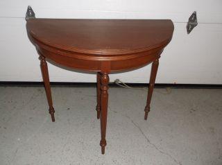 Antique Custom Mahogany Fold Top Table photo