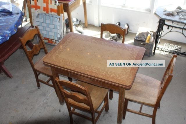 Vintage porcelain kitchen table 4 chairs workwithnaturefo