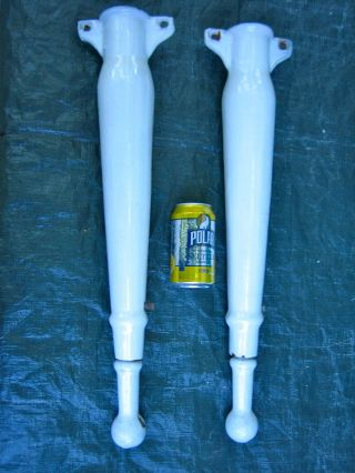 Vintage Porcelain Cast Iron Sink Legs White Adjustable 31