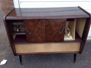 1950s Collaro Conquest Gramaphone Complete In Cupboard / Record Player Radio photo