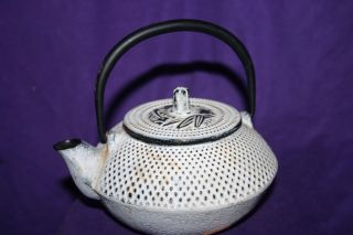 Antique Cast Iron Small Tea Kettle Teapot Character Mark - Small photo
