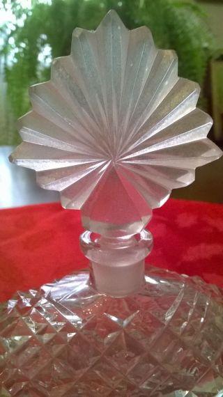 Antique American Brilliant Period Cut Glass Crystal Perfume Bottle photo