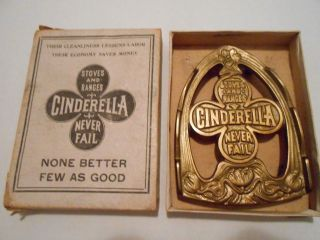 Antique Cinderella Stoves And Ranges Never Fail Advertising Iron Trivet photo