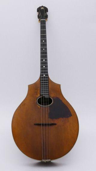 Antique Art Nouveau Vega Boston Usa Tenor Guitar No Mandolin Lute Bouzouki photo