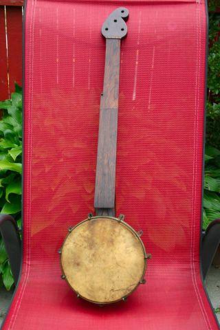 Rare 1800s Minstrel Banjo.  5 String Piccolo Banjo Or Child Banjo.  Rare Find photo
