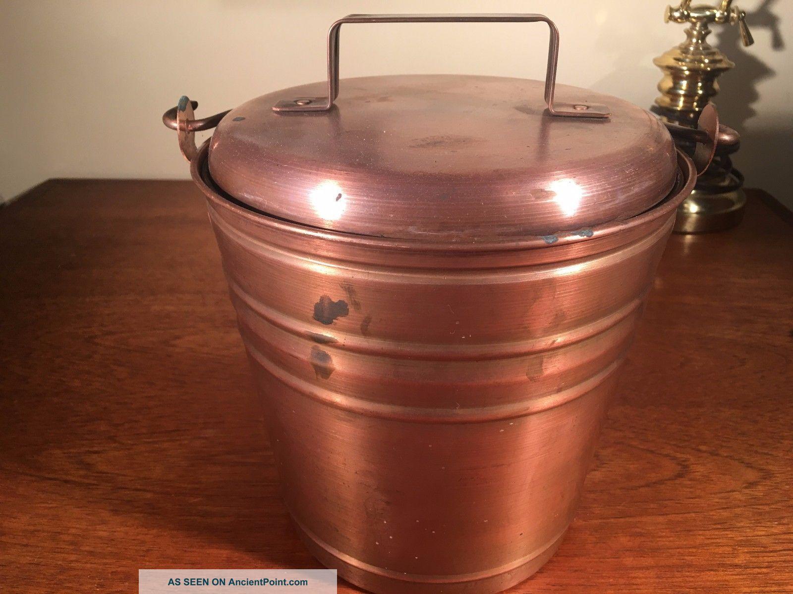1 Smith & Hawken Hearthside Fireplace Ash Bucket Copper W Patina Hearth Ware photo