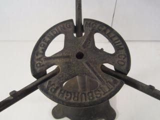 Vintage Antique Mccallum Co Cast Iron Three Arm Plant Stand Pittsburgh Pa photo