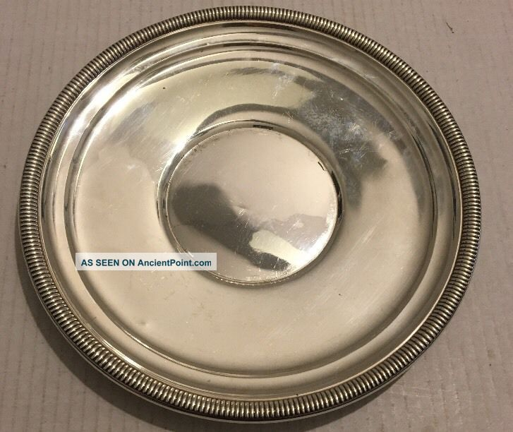 Vintage Solid Cartier Sterling Silver.  925 Plate/valet Tray/vanity 273 Grams Plates & Chargers photo