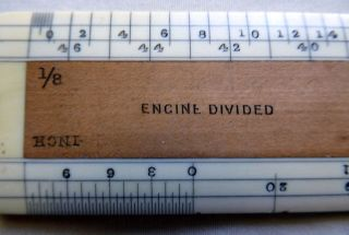 Rare Antique 12 Inch Engineers Ruler Made By A.  G.  Thornton,  Manchester photo