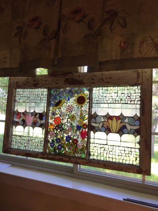 Suncatcher - Stained Glass Panel Mosaic 17 3/4