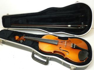 Karl Knilling Germany 4/4 Scale Full Size 05119 Vintage Violin W/ Case & Bow photo