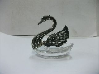 Seasoning Case Of The Silver925 Swan.  Japanese Antique. photo