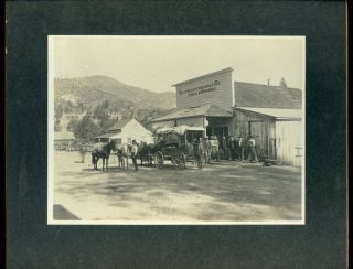 6 X 8 Photo Copper City Mercantile Store (shasta County,  California?) C.  1900 photo