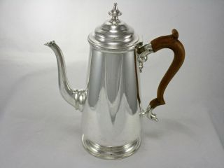 Antique English Silver Plate Cafe Au Lait Coffee Pot Goldsmiths Silversmiths Co. photo