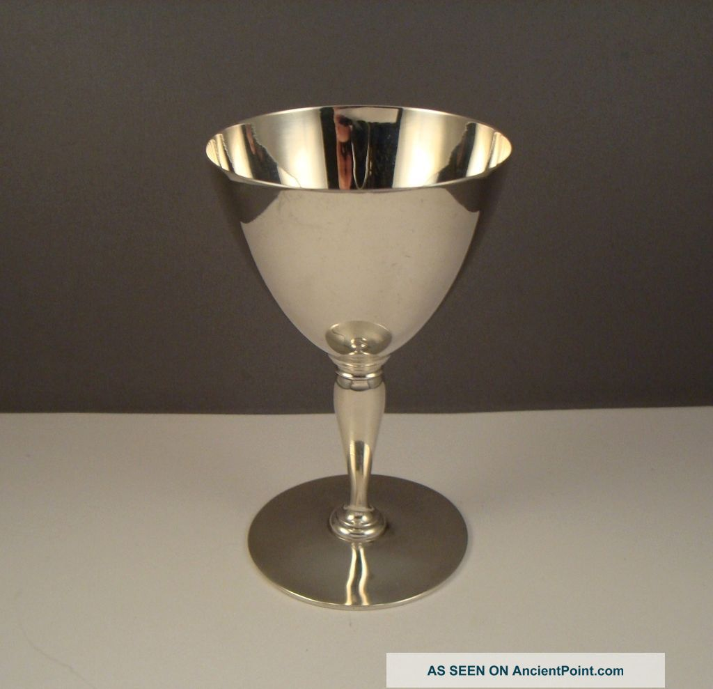 Antique Tiffany & Co Makers 925 Sterling Silver Wine Goblet Cordial Cup Cups & Goblets photo