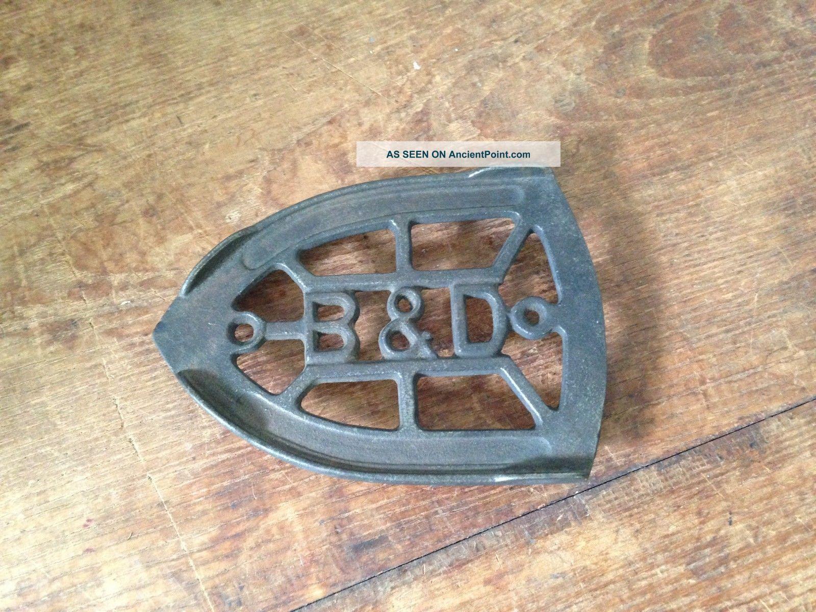 Antique B&d Cast Iron Iron Trivet Trivets photo