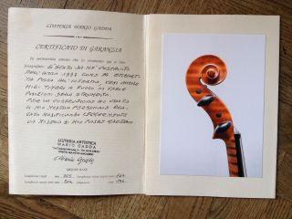 Violin Mario Gadda,  Mantova 1997 With Expertise Italian Old Violino Antico photo