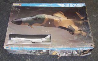 Vintage 1983 Revell Huge Rockwell B - 1b Bomber Jet/plane Model Kit 1/48 photo